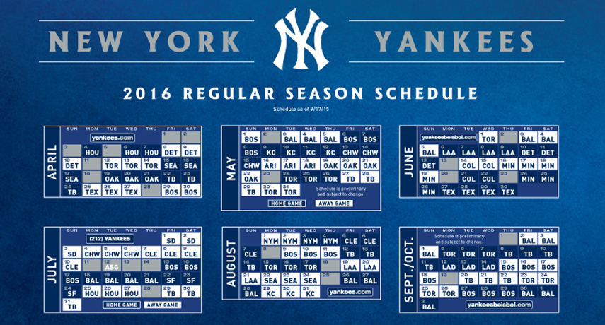 photo regarding Yankees Printable Schedule named Opening Working day Zells Pinstriped Weblog, A Fresh new York Yankees Supporter